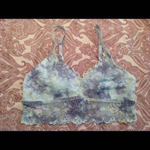 NEW Victoria's Secret Blue Tie Die Lace Bralette